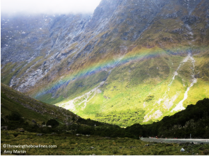 A beautiful rainbow bid us farewell!