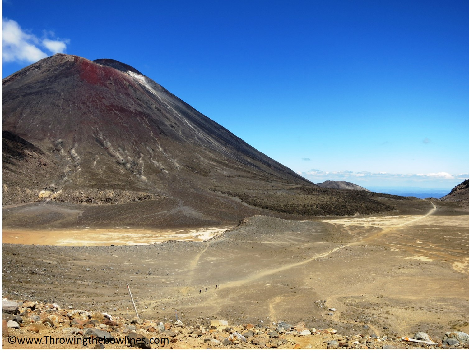 A look back at Mt. Doom as I embarked on summit #2, Mt. Tongariro