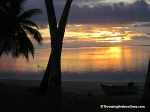 Beautiful Aitutaki sunset